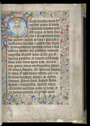Historiated Initial With The Trinity, In A Book Of Hours